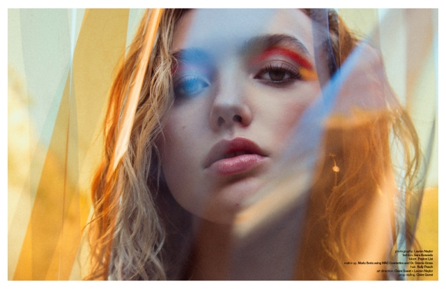 Photographer Lauren Naylor Talent Peyton List featured in Schon Magazine